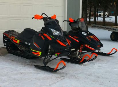 Dipped Snowmobile